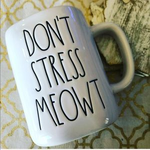 New Rae Dunn DON'T STRESS MEOWT Mug
